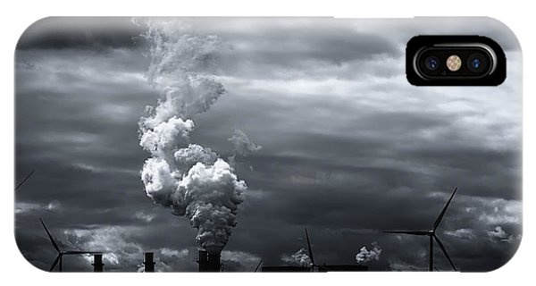 Grim Black White Energy Landscape IPhone Case