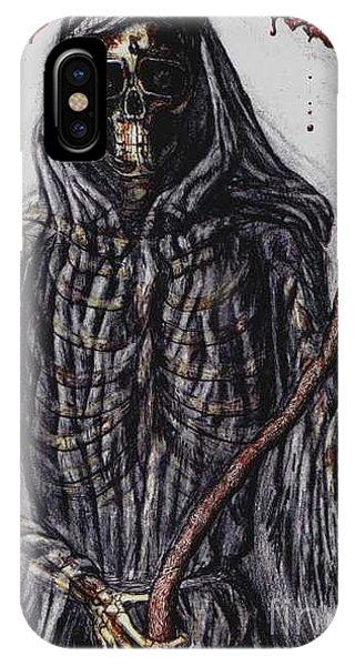 Grim Reaper Colored Phone Case by Katie Alfonsi