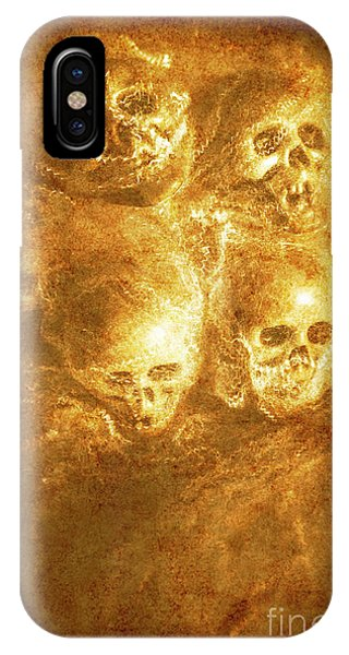 Sinister iPhone Case - Grim Tales Of Burning Skulls by Jorgo Photography - Wall Art Gallery