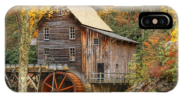 IPhone Case featuring the photograph Grist Mill In Autumn Hues by Ola Allen