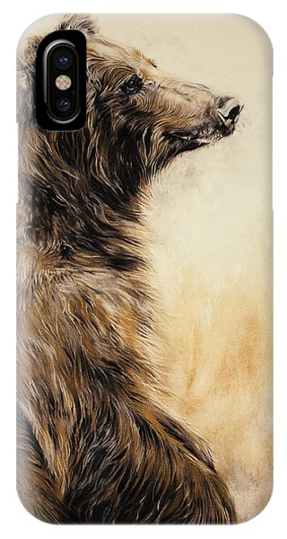 Wild iPhone Case - Grizzly Bear 2 by Odile Kidd
