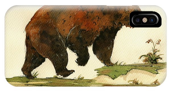 Grizzly Bear Art IPhone Case