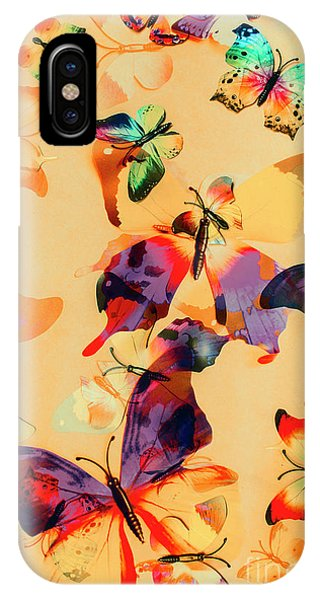 Fauna iPhone Case - Group Of Butterflies With Colorful Wings by Jorgo Photography - Wall Art Gallery