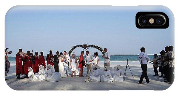 Exploramum iPhone Case - Group Wedding Photo Africa Beach by Exploramum Exploramum