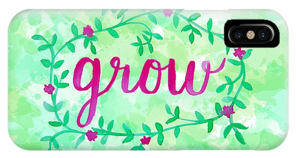 Garden iPhone X Case - Grow Watercolor by Michelle Eshleman