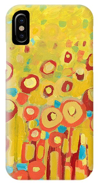 Contemporary iPhone Case - Growing In Yellow No 2 by Jennifer Lommers