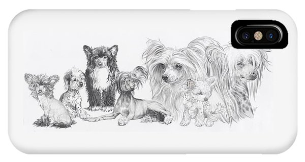 Growing Up Chinese Crested And Powderpuff IPhone Case