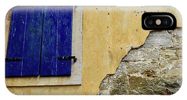 Groznjan Istrian Hill Town Stonework And Blue Shutters  - Istria, Croatia IPhone Case