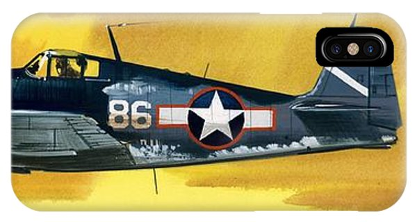 Airplane iPhone Case - Grumman F6f-3 Hellcat by Wilf Hardy