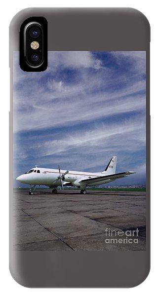 Grumman G-159 Gulfstream Patiently Waits, N719g IPhone Case