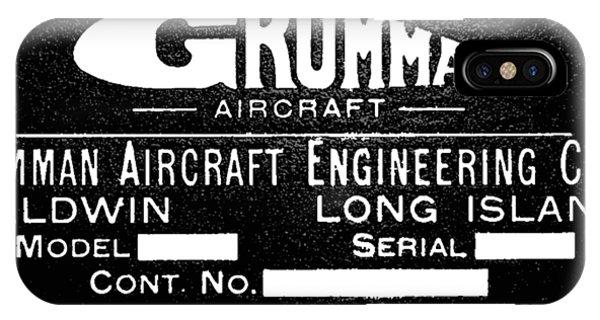 Grumman Product Plate IPhone Case