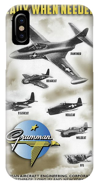 Grumman Ready When Needed IPhone Case