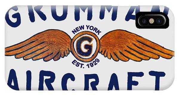 Grumman Wings Blue IPhone Case