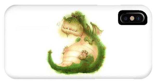 Grumpy Dragon IPhone Case