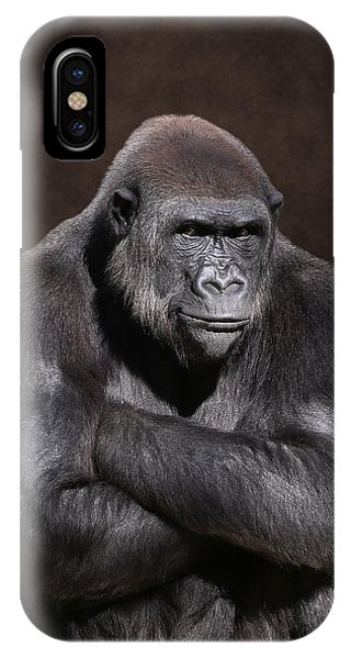 Grumpy Gorilla IPhone Case