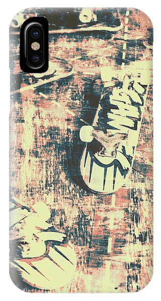 Wood Floor iPhone Case - Grunge Skateboard Poster Art by Jorgo Photography - Wall Art Gallery