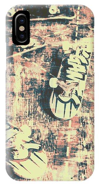 Truck iPhone X Case - Grunge Skateboard Poster Art by Jorgo Photography - Wall Art Gallery
