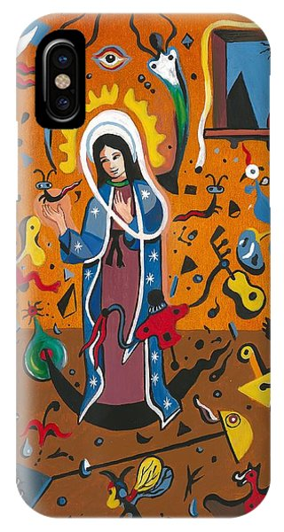 Guadalupe Visits Miro IPhone Case