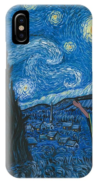 Guadalupe Visits Van Gogh IPhone Case