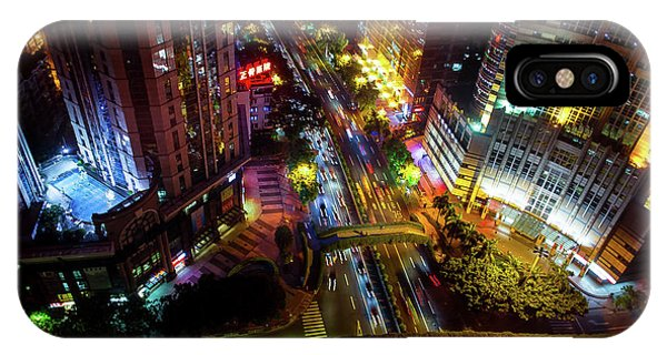 Guangzhou City Streets At Night IPhone Case