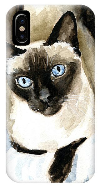 Guardian Angel - Siamese Cat Portrait IPhone Case