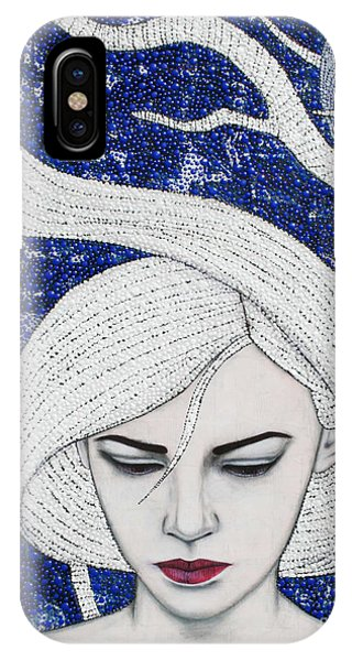 IPhone Case featuring the mixed media Guardian Of The Night by Natalie Briney