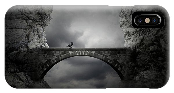 Crow iPhone Case - Guardian by Zoltan Toth