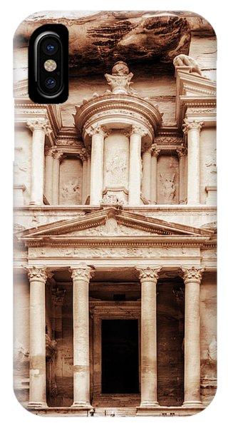 Guarding The Petra Treasury IPhone Case