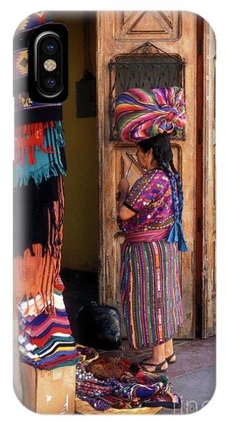Guatemala Maya Textile Vendor IPhone Case