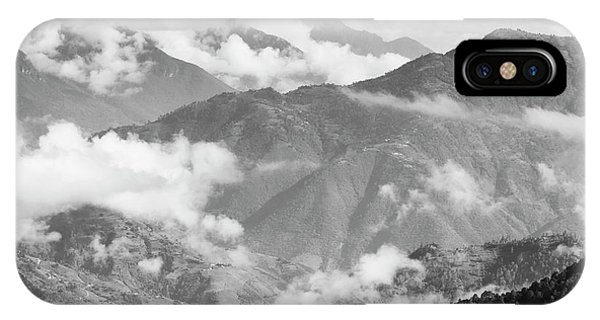 IPhone Case featuring the photograph Guatemala Mountain Landscape Black And White by Tim Hester