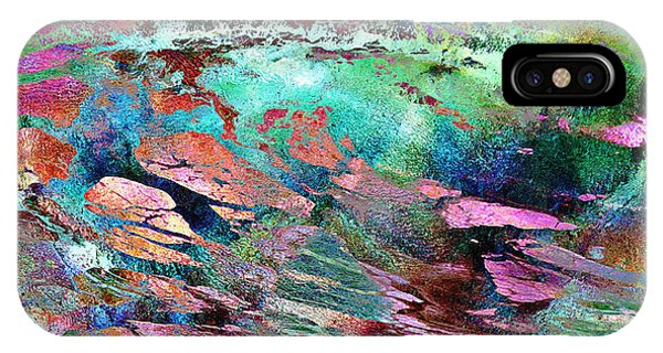 IPhone Case featuring the mixed media Guided By Intuition - Abstract Art by Jaison Cianelli