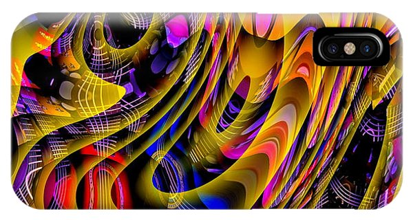 IPhone Case featuring the digital art Guitar Abstract by Visual Artist Frank Bonilla