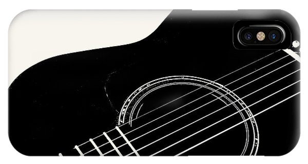 Guitar, Black And White,  IPhone Case