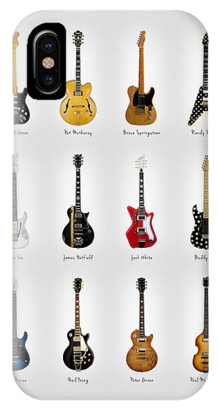Electric Guitar iPhone Case - Guitar Icons No2 by Mark Rogan