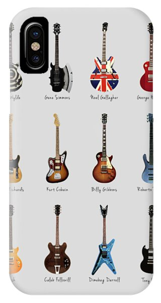 Harrison iPhone Case - Guitar Icons No3 by Mark Rogan