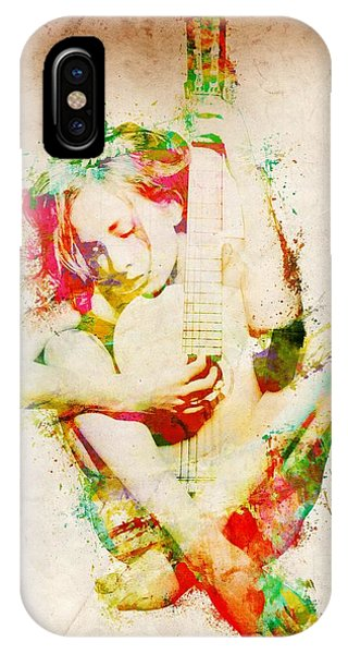 Rock And Roll iPhone Case - Guitar Lovers Embrace by Nikki Smith