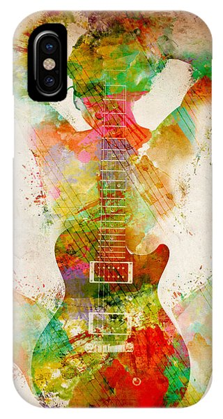 Guitar iPhone Case - Guitar Siren by Nikki Smith