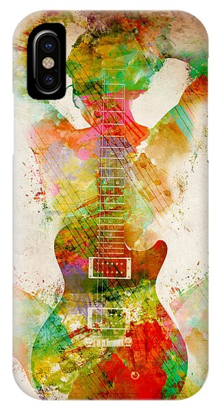 Music iPhone Case - Guitar Siren by Nikki Smith