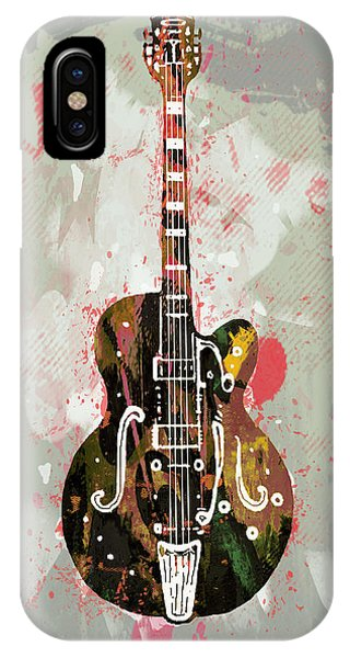 Guitar Stylised Pop Art Poster IPhone Case