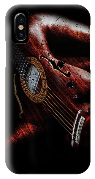 Layered iPhone Case - Guitar Woman by Marian Voicu