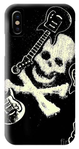 Rock And Roll Art iPhone Case - Guitars Of Black Metal by Jorgo Photography - Wall Art Gallery