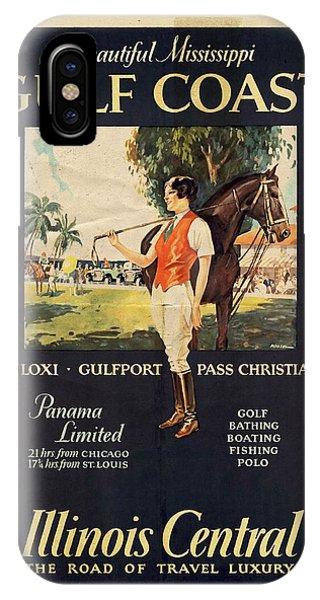 Gulf Coast - Illinois Central - Vintage Poster Vintagelized IPhone Case