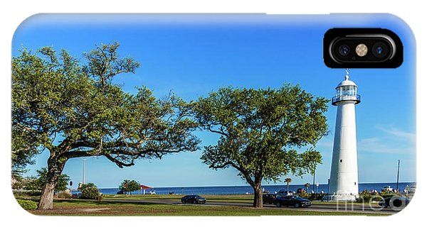 Gulf Coast Lighthouse Seascape Biloxi Ms 3663b IPhone Case