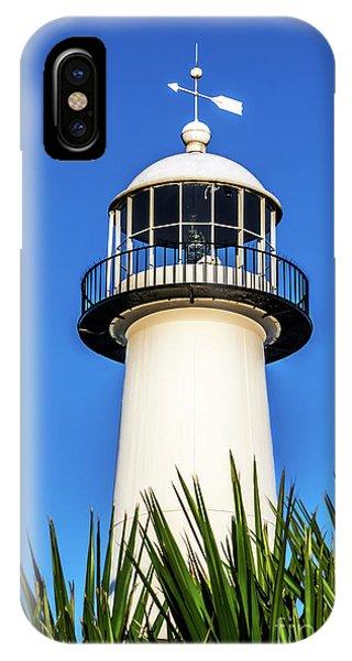 Gulf Coast Lighthouse Seascape Biloxi Ms 3819a IPhone Case