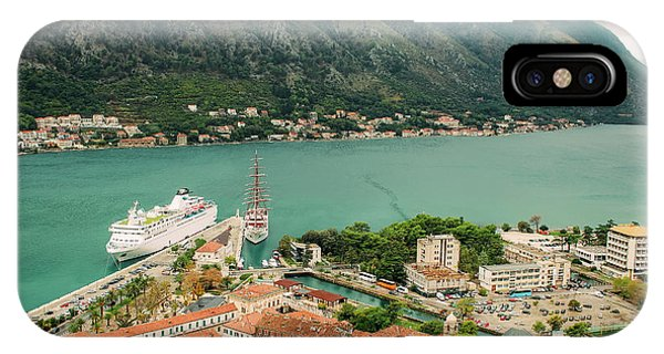 Gulf Of Kotor With Cruise Liner IPhone Case