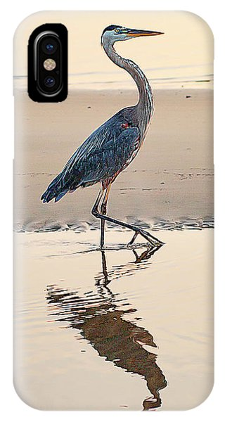 Gulf Port Great Blue Heron IPhone Case