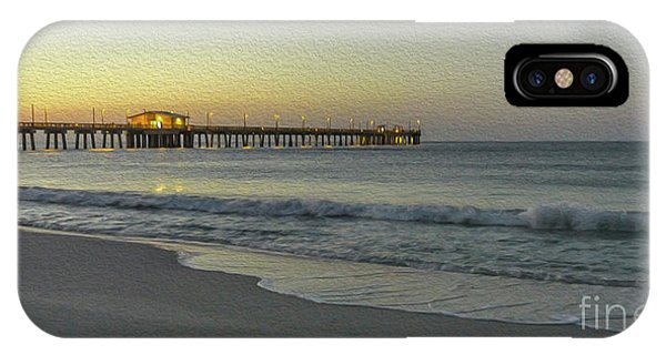 Gulf Shores Alabama Fishing Pier Digital Painting A82518 IPhone Case