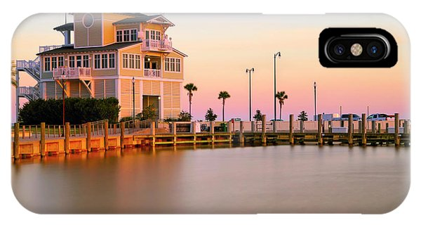 IPhone Case featuring the photograph Gulfport Harbor Master's Office - Mississippi - Sunset by Jason Politte
