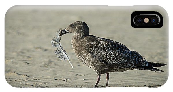 Gull And Feather IPhone Case