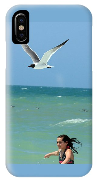 Gull And Girl IPhone Case